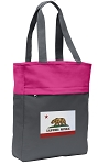 California Flag Tote Bag Everyday Carryall Pink