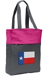 Texas Flag Tote Bag Everyday Carryall Pink