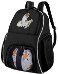 Cute Cat Soccer Backpack or Kitten Volleyball Bag for Boys or Girls