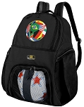Soccer  Backpack or World Cup Fan Volleyball Bag for Boys or Girls