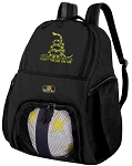 Don't Tread on Me Soccer Backpack or Don't Tread on Me Volleyball Bag for Boys or Girls