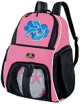 Girls Dolphin Soccer Backpack or Dolphins Volleyball Bag
