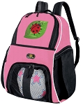 Girls Ladybug Soccer Backpack or Ladybugs Volleyball Bag