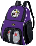 Soccer Fan Soccer Backpack or Soccer Nut Volleyball Practice Bag Purple