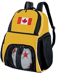 Canada Soccer Ball Backpack Bag Yellow