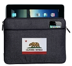 California Flag Ipad Sleeve Blue