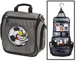 Soccer Nut Toiletry Bag or Shaving Kit Gray