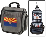 Arizona Flag Toiletry Bag or Shaving Kit Gray