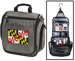 Maryland Flag Toiletry Bag or Shaving Kit Gray