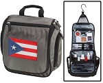 Puerto Rico Toiletry Bag or Shaving Kit Gray