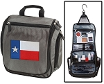 Texas Toiletry Bag or Shaving Kit Gray
