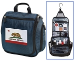 California Flag Toiletry Bag Shaving Kit