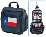 Texas Flag Toiletry Bag Shaving Kit