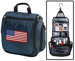 American Flag Toiletry Bag Shaving Kit