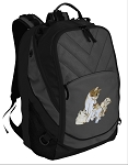 Cute Cats Deluxe Laptop Backpack Black