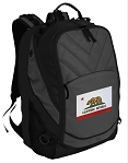 California Flag Deluxe Laptop Backpack Black