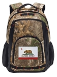 California Flag RealTree Camo Backpack