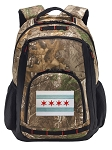 Chicago Flag RealTree Camo Backpack