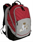 Cute Cats Deluxe Laptop Backpack Red