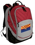 Arizona Flag Deluxe Laptop Backpack Red