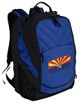 Arizona Flag Deluxe Computer Backpack Blue
