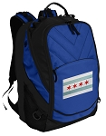 Chicago Flag Deluxe Computer Backpack Blue