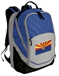 Arizona Flag Deluxe Laptop Backpack Blue
