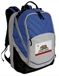 California Flag Deluxe Laptop Backpack Blue