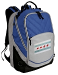 Chicago Flag Deluxe Laptop Backpack Blue