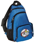 Baseball Sling Backpack Blue