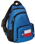 Texas Flag Sling Backpack Blue