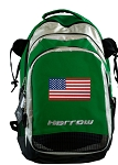 American Flag Harrow Field Hockey Lacrosse Bag Green