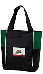 California Flag Tote Bag Green