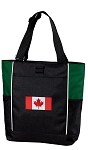 Canadian Flag Tote Bag Green