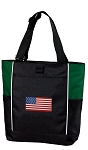 American Flag Tote Bag Green