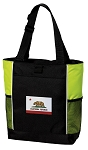 California Flag Tote Bag COOL LIME