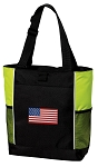 American Flag Tote Bag COOL LIME