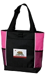 California Flag Tote Bag Pink