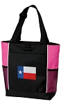 Texas Flag Tote Bag Pink
