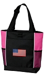 American Flag Tote Bag Pink