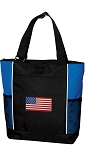 American Flag Tote Bag Red