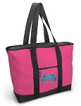 Deluxe Pink Blue Crab Tote Bag