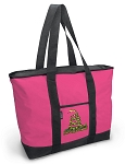 Deluxe Pink Don't Tread on Me Tote Bag