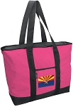 Deluxe Pink Arizona Flag Tote Bag