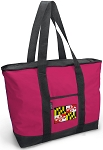 Deluxe Pink Maryland Flag Tote Bag