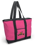 Deluxe Pink Peace Frogs Tote Bag