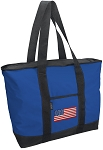 American Flag Tote Bag Blue