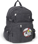 Baseball Canvas Backpack Black