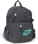 Christian Canvas Backpack Black