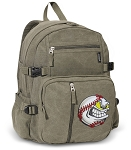 Baseball Canvas Backpack Olive